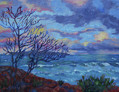 Painting - Twilight Silhouette by Mary Benke