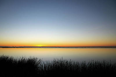 Twilight Stillness Down By The Beach Lagoon Art Print