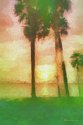 Twilight Sun Print by Marvin Spates