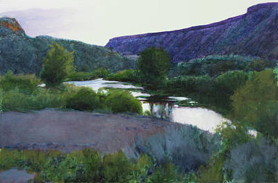 Painting - Twilight Taos Sold by Cap Pannell