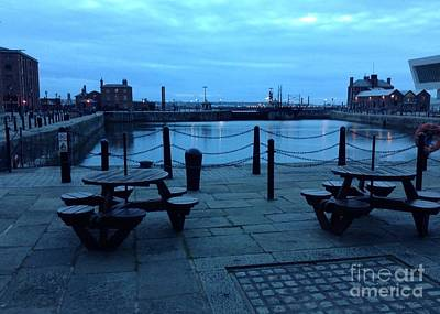 Photograph - Twilight Time At Albert Dock by Joan-Violet Stretch