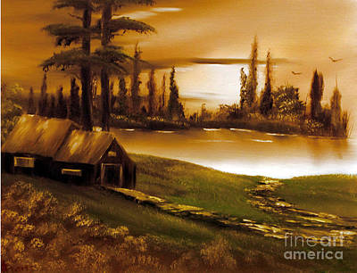 Painting - Twilight Time by Cynthia Adams