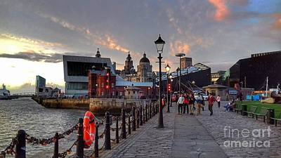 Photograph - Twilight Time Over Pier Head View by Joan-Violet Stretch