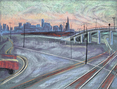 Painting - Twilight Tracks by Asha Carolyn Young