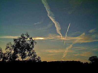 Photograph - Twilight Trails by Richard Brookes