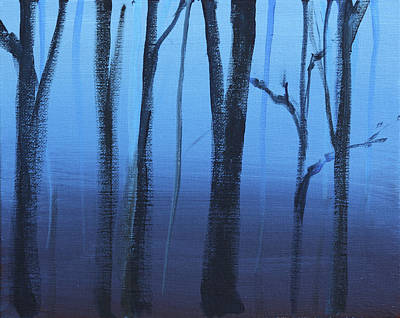 Painting - Twilight Trees by Stacy Williams