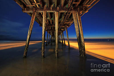 Twilight Under The Imperial Beach Pier San Diego California Art Print