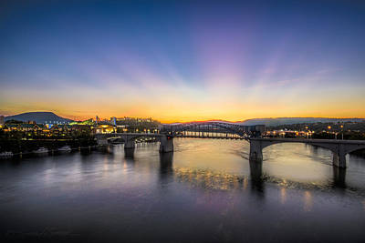 Photograph - Twilight View, Chattanooga by Stacey Sather