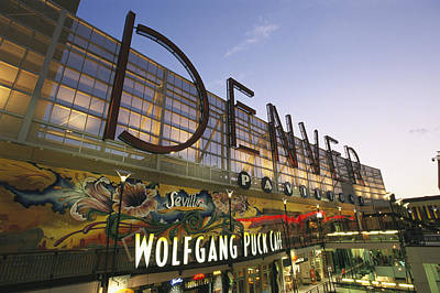 Shopping Center Photograph - Twilight View Of The Denver Pavilions by Richard Nowitz