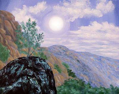 Painting - Twilight Vista At Pinnacles by Laura Iverson
