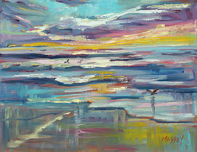 Painting - Twilight Waters by Marie Massey