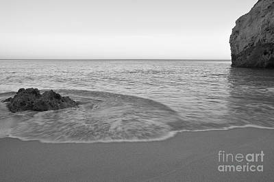 Algarve Photograph - Twilight Waves In Monochrome. Albandeira by Angelo DeVal