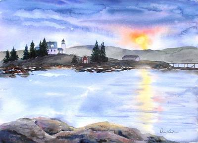 Painting - Twilight Welcome by Diane Kirk
