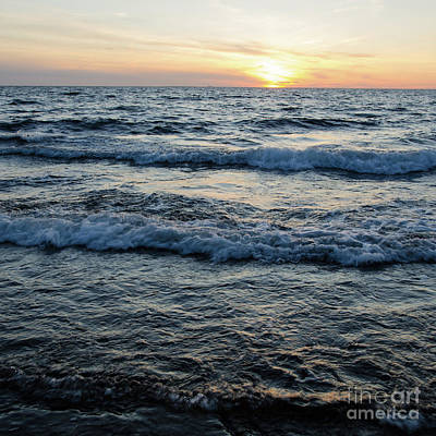 Photograph - Twilight With Sunset And Waves by Kennerth and Birgitta Kullman