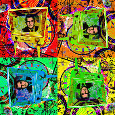 Twilight Zone Wall Art - Photograph - Twilight Zone 20150905 Four Squares by Wingsdomain Art and Photography