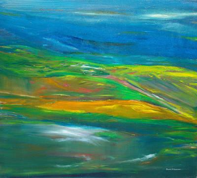 Mystical Landscape Painting - Twilight Zone by Susan  Esbensen