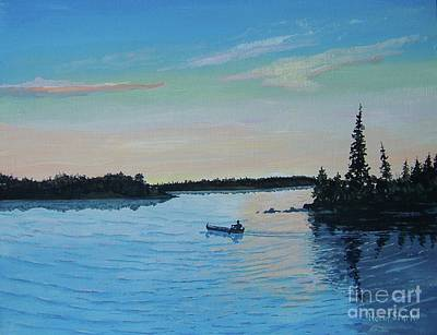 Painting - Twilight's Last Gleaming by Norm Starks