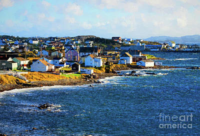 Photograph - Twillingate In Newfoundland - Painterly by Les Palenik
