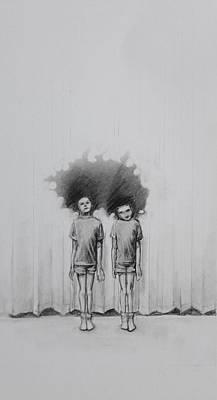 Drawing - Twin Act by Mays Mayhew