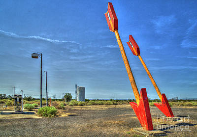 Photograph - Twin Arrows Ghost Town Historic U S Route 66 Arizona Trading Post Art by Reid Callaway