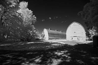 Photograph - Twin Barns by Bob Cournoyer