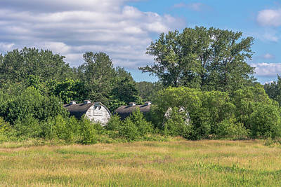 Northwest Photograph - Twin Barns Early Summer by Marv Vandehey