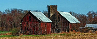 Photograph - Twin Barns Of Queen Anne's County by Bill Swartwout Fine Art Photography