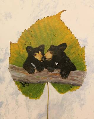 Painting - Twin Bear Cubs by Ralph Root