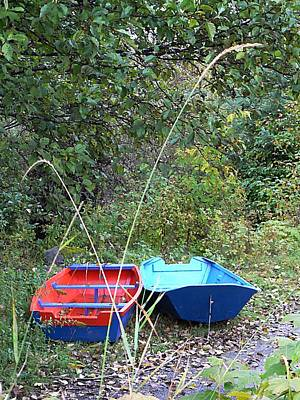 Photograph - Twin Boats Bella Coola Bc by Barbara St Jean