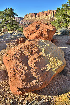 Photograph - Twin Boulders by Ray Mathis