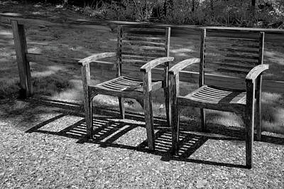 Photograph - Twin Chairs by James Barber
