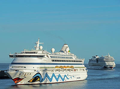 Photograph - Twin Cruise Ships by Dennis Cox WorldViews