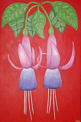 Rocca Painting - Twin Cups by Sarah England-Rocca