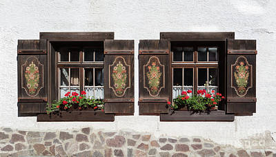 Photograph - Twin Decorated Windows by Yair Karelic