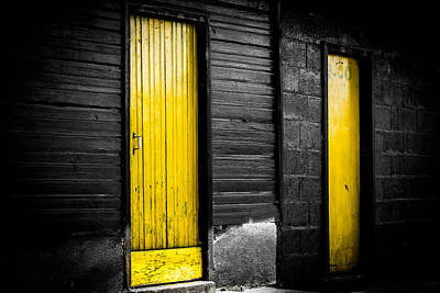 Photograph - Twin Doors by Shelby  Young