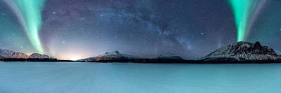 Milky Way Photograph - Twin Eruption by Tor-Ivar Naess