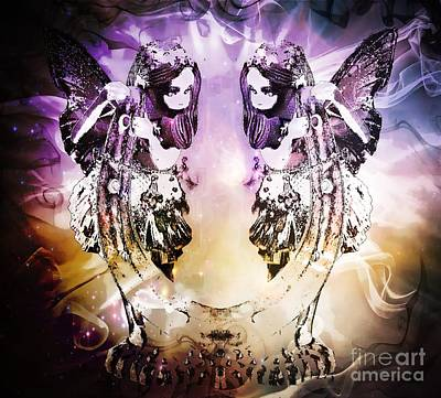 Twin Fairies 2 Art Print