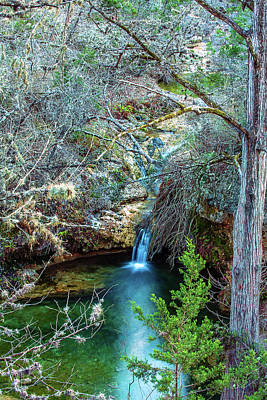 Photograph - Twin Falls At Peddernales Falls State Park by Micah Goff