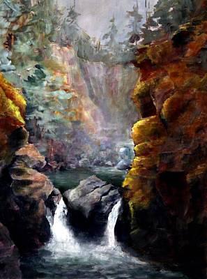 Twin Falls Art Print