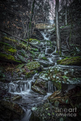 Photograph - Twin Falls II by Larry McMahon