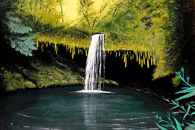 Painting - Twin Falls Maui Hawaii by Pierre Leclerc Photography