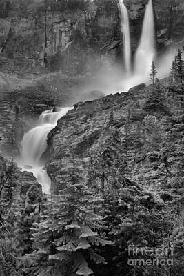 Photograph - Twin Falls Portrait Black And White by Adam Jewell
