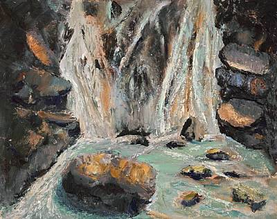 Painting - Twin Falls by Vera Smith