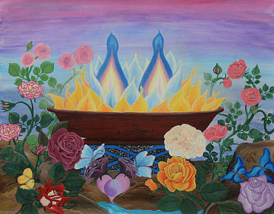 Painting - Twin Flame by Ruth Evelyn