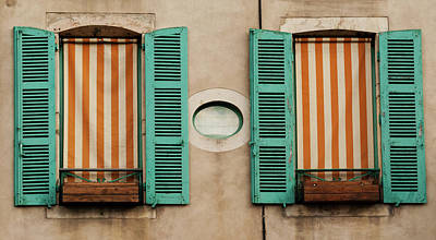 Photograph - Twin French Windows by Jani Freimann