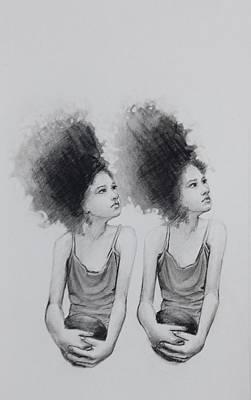 Drawing - Twin Glance by Mays Mayhew