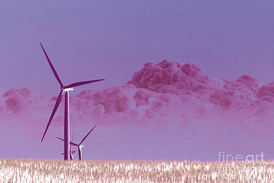 Crop Rotation Wall Art - Photograph - Twin Groves Wind Farm In Infrared Number 1 by Alan Look