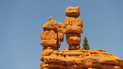 Photograph - Twin Hoodoos Dixie National Forest Utah by Lawrence S Richardson Jr