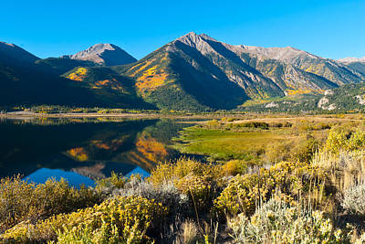 Photograph - Twin Lakes Autumn Reflection by Cascade Colors