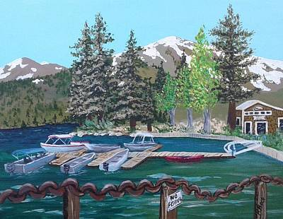 Painting - Twin Lakes Marina -first Lake by Katherine Young-Beck